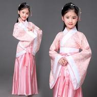 兒童古裝唐裝女童古裝仙女裝表演服古代公主古箏漢服貴妃服裝 錢夫人小鋪
