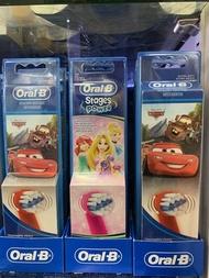 德國代購 現貨含運 Oral-B 德國原裝/百靈歐樂B,兒童電動牙刷,麥坤/公主替換刷頭2入。