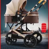 Belecoo รถเข็นเด็กสูงภูมิทัศน์ทารกแรกเกิด2 In 1 Carriage สองกระเป๋าเดินทางรถเข็นอลูมิเนียมกรอบ EU มาตรฐา...