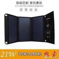 []太陽能折疊包21W sunpower手機充電包戶外太陽能充電器 YXS娜娜