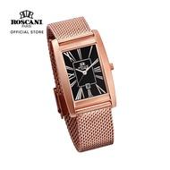 Roscani Riana 406 (Curved Crystal) Rose Gold Black Mesh Women Watch