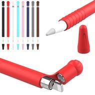 Candyสีกรณีซิลิโคนอ่อนฝาครอบNib PetevtiveแขนTipสำหรับApple Pencil iPad Pro Mini Miniอุปกรณ์เสริม