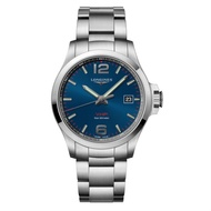 LONGINES 浪琴錶 l37264966 征服者系列 VHP超精準石英萬年曆腕錶/藍面43mm
