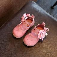 รองเท้าคัชชูเด็กผู้หญิงหัดเดิน เด็กเล็กน่ารัก ใส่สบาย  สีชมพูสำหรับท่องเที่ยวและออกงาน