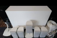 BOSE ACOUSTIMASS 15 HOME THEATER SPEAKER SYSTEM WHITE with SPEAKERS & CABLES