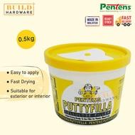 PENTENS PUTTYFILLA Cellulose Filler 0.5kg | Putty Filla [Ready Stock]