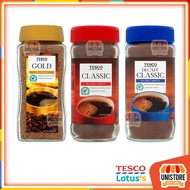 Tesco Gold Blend Freeze Dried Coffee Robusta and Arabica / Classic Rich Roast Coffee /Decaff Classic Instant Coffee 200g
