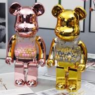 28CM bearbrick400% Electroplating bearbrick Bear Action Figures