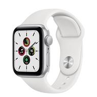 Apple Watch SE GPS版-銀色鋁金屬錶殼配白色運動錶帶_40mm(MYDM2TA/A)(美商蘋果)