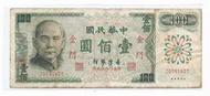 媽媽的私房錢~~民國61年版100元舊紙鈔(限金門地區通用)~~Z679142T
