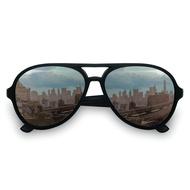 美國Hipsterkid抗UV偏光時尚嬰幼兒童太陽眼鏡(附固定繩-飛行員黑