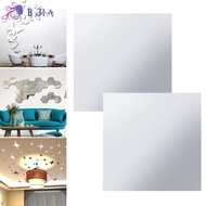 BJIA Ultra-thin Stickers Acrylic Wall Stickers Mirror DIY Self-adhesive PET Adhesive stickers Mirror Sticker Soft Mirror