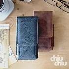 【CHIUCHIU】HUAWEI nova 5T (6.26吋)復古質感犀牛紋雙卡層可夾式保護皮套(沉穩黑)