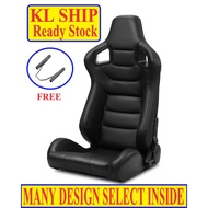 [ FREE UNIVERSAL SLIDER RAILING ] [ READY STOCK IN KL ] SSCUS BRIDGE RECARO MONSTER DESIGN BUCKET SEAT FOR CARS