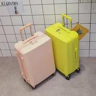 KLQDZMS 20''24InchนวัตกรรมRollingกระเป๋าเดินทางกระเป๋าPC Simpleสไตล์กระเป๋าเดินทางบนล้อสำหรับหนุ่มคน