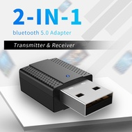 USB Bluetooth 5.0 Transmitter Receiver Portable 3.5mm AUX Audio Wireless Adapter For TV PC