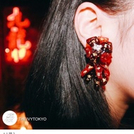 The ivy tokyo 金魚花 針式耳環