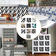 Wall Sticker 10Pcs Brick Home Tiles Waterproof 3D Art Mosaic Peel And Stick