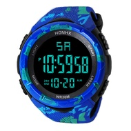 Honhx Mens Outdoor Sports Watches camouflage Big Dial Fashion Fitness wacth naviforce automatic gshock wacthes Simple Digital Electronic Watch stopwatch Waterproof Wristwatch military Relo For Men Man Women On Sale Original k017