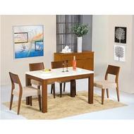 【IS空間美學】喬伊柚木石面餐桌椅組  2015-S-432-01