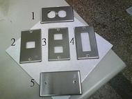 DIY水電材料 不鏽鋼蓋板/開關蓋板/插座蓋板/ST蓋板
