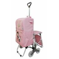 7-11 小丸子 x Hello Kitty 三輪 多功能 折疊 購物車 另可加購 行李箱