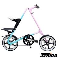 【STRiDA速立達】16吋單速LT版碟剎折疊單車/三角形單車-漸層色