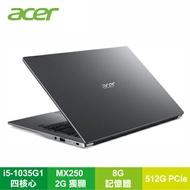【福利品】acer SF314-57G-50MR 太空灰 宏碁十代超輕薄筆電/i5-1035G1/MX250 2G/8G/512G PCIe/14吋 FHD IPS/W10/含原廠包包及滑鼠