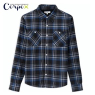【Corpo X】男款舒棉絨毛發熱法蘭絨襯衫外套(灰)
