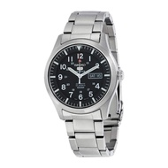 Men's SNZG13 Seiko 5 Automatic Black Dial Stainless-Steel Bracelet Watch