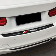 TRD Logo Car Rear Bumper Stickers Trunk Guard Plate Molding Accessories for for Toyota Yaris Altis Wish Camry Rav4 Vios Corolla CHR Highlander