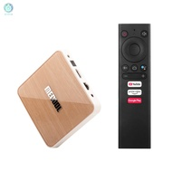*a MECOOL KM6 DELUXE Smart Android 10.0 TV Box UHD 4K Media Player Amlogic S905X4 4GB/64GB 2T2R 2.4G/5G WiFi Voice Remote Control Google Certificated AV1 H.265 VP9 Decoding BT5.0