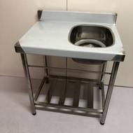 免運費 全新 72公分 水槽+平台 不鏽鋼水槽 水槽+工作台