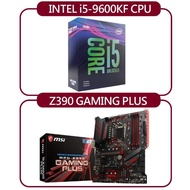 【INTEL】i5-9600KF【微星】Z390 GAMING PLUS主機板(購買後無法退換貨)