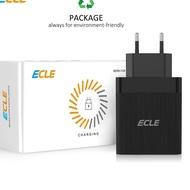 കTerlarisക ECLE Head 3 Ports Quick Charge 3.0 Charger Weisto