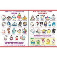 香港7-11三麗鷗Sanrio 50th Crystal Charm水晶匙扣吊飾(大全套40款+摩天輪)