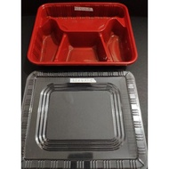 Bento box 4 division cheapest mealbox 4 parts food container microwaveable packaging