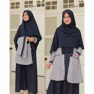 DRES MAXI ELBINA SET DRESS & OUTER ( no hijab ) DRESS TERBARU ( BISA COD ) ADA SIZE S M L XL