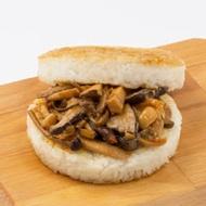 【KKLife-紅龍】三杯風味珍菇米漢堡 (180g/顆; 3顆/袋)_蔬食系列