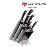 【WUSTHOF 三叉】CLASSIC IKON 7件刀具座組(6件刀+白臘木刀座 black)