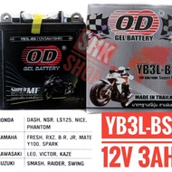 แบตเตอรี่ โอดี YB3L-BS 12v 3Ah DASH NSR LS125 NICE PHANTOM FRESH RXZ JR Y100 SPARK LEO VICTOR KAZE SMASH SWING RAIDER Battery Health Store