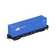 HO Scale 40FT Train Flat Shipping Container Carriage Car For Railway Transporter Model Freight Seabox
