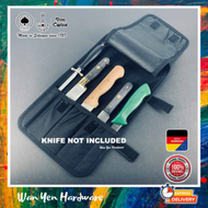 🔥 Made in Germany 🇩🇪 🔥F.Herder 3 slots for knives + 2 smaller slots Knife Bag