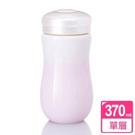 【乾唐軒活瓷】甜心單層陶瓷隨身杯 370ml(白粉紅)
