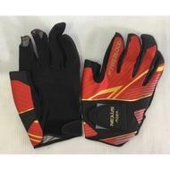 釣魚SHIMANO 手套 磯釣手套 SHIMANO NEXUS GL-143P 最新款真皮手套 斷三指