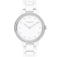 【COACH】永恆時尚晶鑽陶瓷腕錶-35mm/白(14503499)