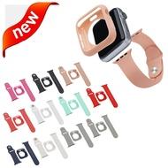 เคสป้องกัน TPU และสายนาฬิกา2 In 1,ชุดสำหรับ Apple Watch Band 5 4 44/40มม. สายรัดข้อมือสำหรับ I Watch Series 3/2/1 42/38มม.