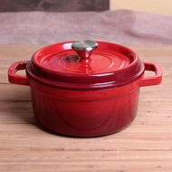Enamel Cast Iron Pan Handmade Cast Iron Pot Soup Pot