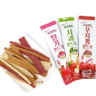 Juicy pangpang jjondeugi sampler set / Strawberry, Apple, Cudrania (35g x 6 bags)