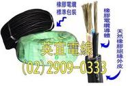 (英宜電線) 足5.5平方 2芯 橡膠電纜 2CT 大東牌 CNS認證 一級電線廠 電線 電纜線 長度可裁